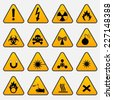 Warning Hazard Triangle Signs - stock vector