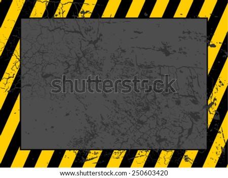 Warning or Danger Frame - stock vector