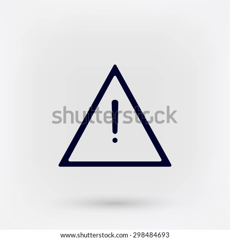 warning road sign vector icon