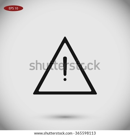 warning roadsign vector icon