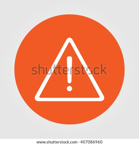 warning roadsign vector icon - stock vector