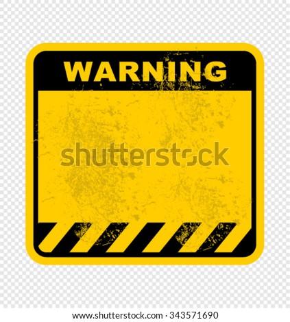 warning, sign - stock vector