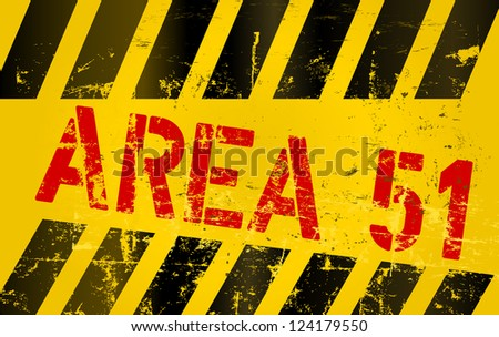 """warning sign """" area 51 """" - stock vector"""