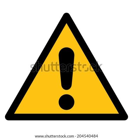 Warning sign, DANGER - stock vector