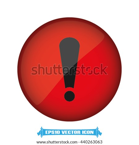 warning sign icon vector illustration EPS 10