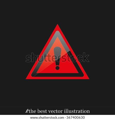 warning sign icon, warning sign icon eps10, warning sign icon vector, warning sign icon eps, warning sign icon jpg, warning sign icon picture, warning sign icon flat, warning sign icon AI - stock vector
