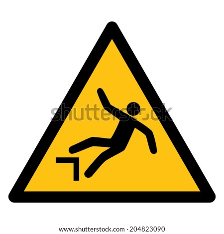 Warning sign RISK OF FALLING