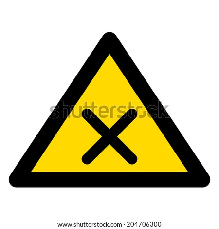 warning sign vector - stock vector