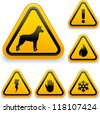 Warning signs (1/2) - stock vector