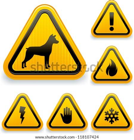 Warning signs (1/2) - stock vector