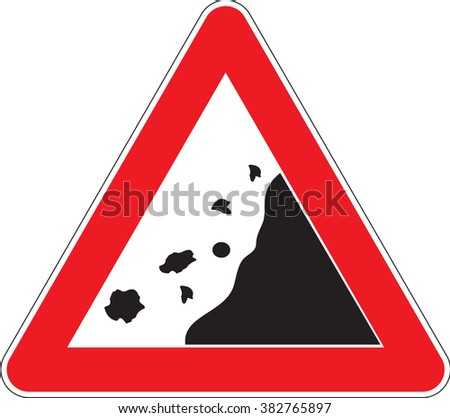 Warning signs Falling rocks