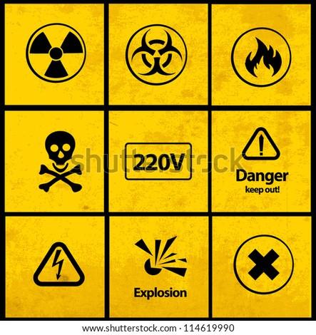 Warning signs (vector) - stock vector