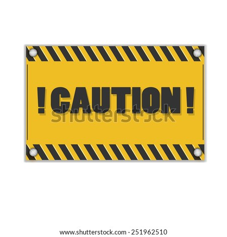 Warning signs.Vector illustration