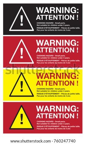 Best Warning Sticker English French Bilingual CHOKING Stock Vector  IJ19
