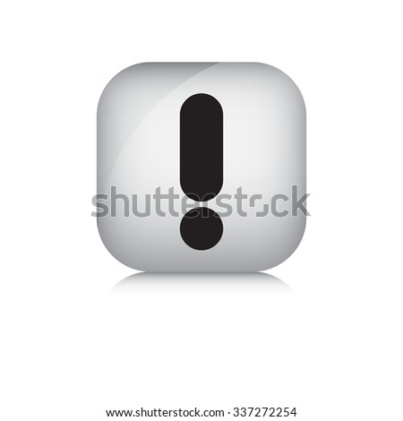 Warning vector icon in isolate white background. - stock vector