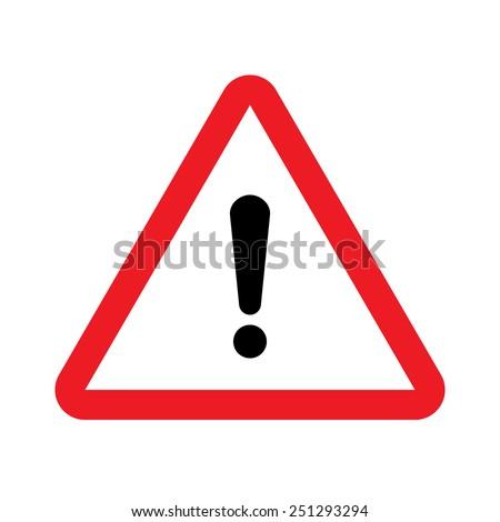 Warning vector sign - stock vector