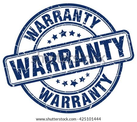 warranty blue grunge round vintage rubber stamp.warranty stamp.warranty round stamp.warranty grunge stamp.warranty.warranty vintage stamp. - stock vector