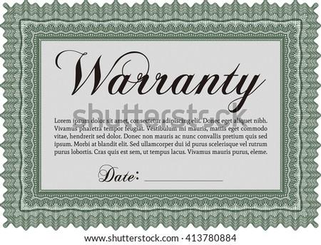 Template Warranty Certificate Easy Print Complex Stock Vector