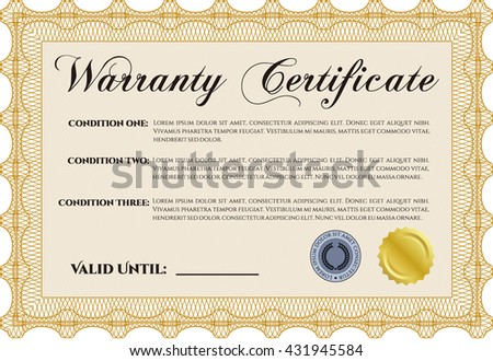 Warranty certificate stock images royalty free images vectors warranty certificate template detailed with background cordial design yelopaper Gallery