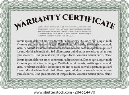 Warranty certificate template vector illustration sample stock warranty certificate template vector illustration with sample text with complex background altavistaventures Images