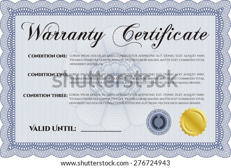 Warranty certificate sample text background perfect stock vector warranty certificate sample text background perfect stock vector 276724943 shutterstock yelopaper Gallery