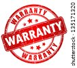 Warranty vector stamp - stock photo