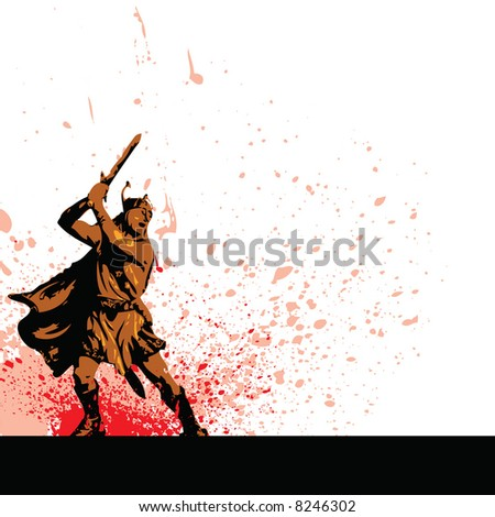 warrior - stock vector