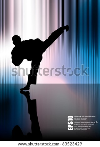 Warrior and abstract background eps10 - stock vector