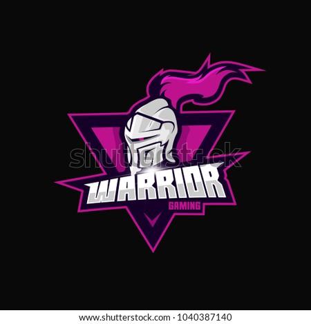 Warrior e sports logo game stock vector royalty free 1040387140 warrior e sports logo game altavistaventures Images
