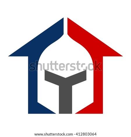 warrior logo vector. - stock vector
