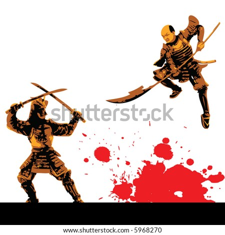 warriors vector - stock vector