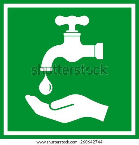 Wash hands icon  - stock vector