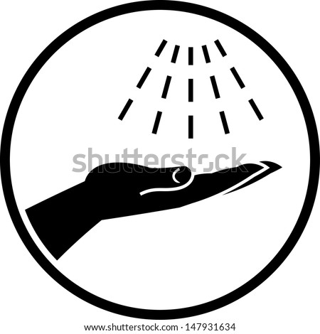 Wash hands vector icon  - stock vector