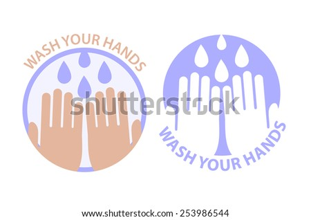 Wash your hands symbol. Vector illustration - stock vector