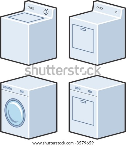 Washer And Dryer Clipart washer dryer stock vector 3579659 - shutterstock