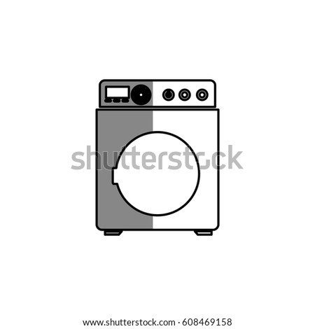 washing machine clipart black and white. washer machine isolated icon washing clipart black and white