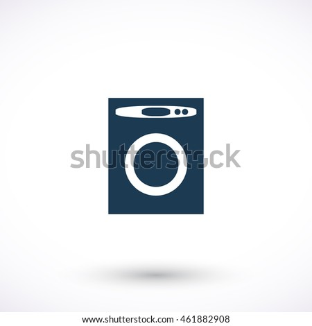Washer vector icon. Graphic symbol for web design, logo. Isolated sign on a white background.