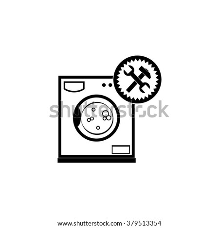 Washer vector icon. Repair