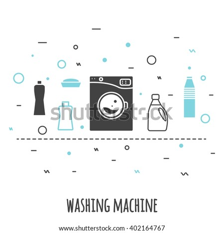 Illustration with tips on saving water consumption by man in a house - Shutterstock
