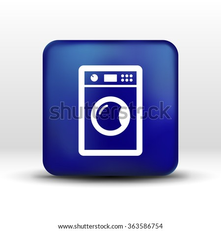 washing machine icon laundromat vector clothing electric clear .