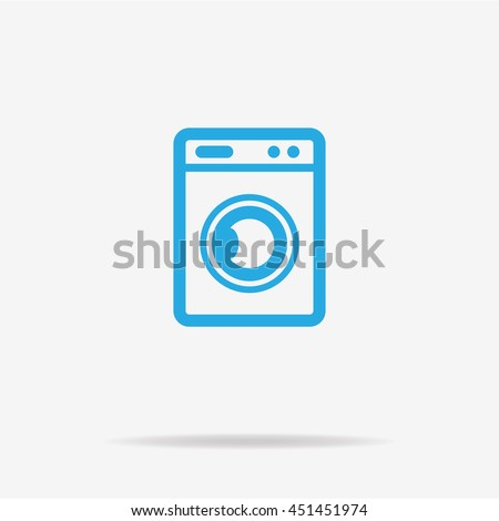 Washing machine icon. Vector concept illustration for design.