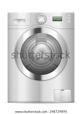 Washing machine on a white background. - stock vector