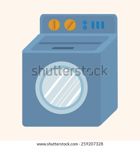 Washing machine theme elements