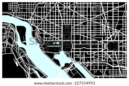 Washington dc black white map stock vector royalty free 227554993 washington dc black and white map publicscrutiny Image collections