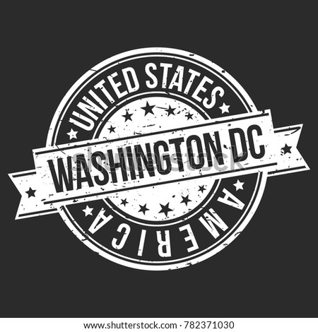 Washington Dc Columbia Usa Stamp Logo Stock Vector 782371030