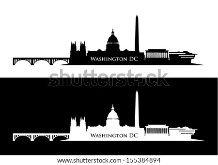 Washington DC skyline - vector illustration - stock vector