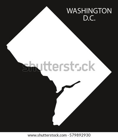Washington Dc Usa Map Grey Stock Vector Shutterstock - Usa map washington dc