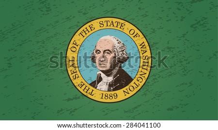 Washington grunge style flag. Vector EPS10 - stock vector