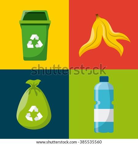 waste concept design  - stock vector