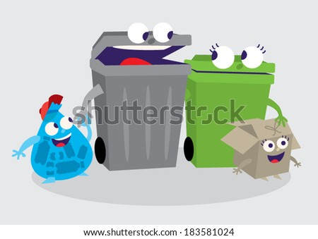waste vector elements